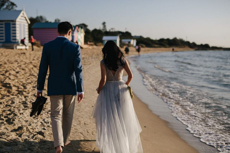 Pre Wedding Photos Melbourne Brighton Beach Carlton Gardens
